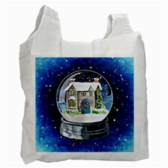 Winter Snow Ball Snow Cold Fun Recycle Bag (Two Side)