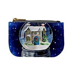 Winter Snow Ball Snow Cold Fun Mini Coin Purses