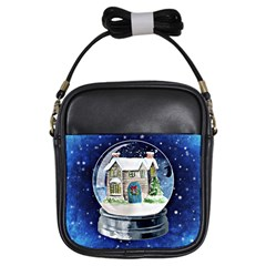 Winter Snow Ball Snow Cold Fun Girls Sling Bags