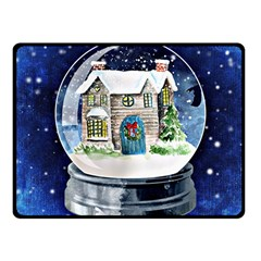 Winter Snow Ball Snow Cold Fun Fleece Blanket (Small)