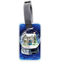 Winter Snow Ball Snow Cold Fun Luggage Tags (Two Sides)