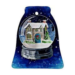 Winter Snow Ball Snow Cold Fun Bell Ornament (Two Sides)