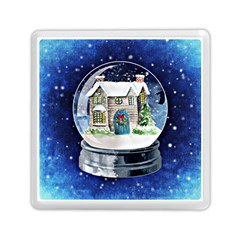 Winter Snow Ball Snow Cold Fun Memory Card Reader (Square)