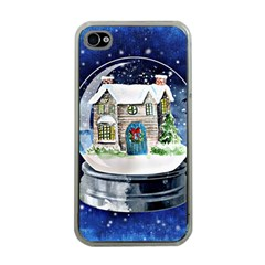 Winter Snow Ball Snow Cold Fun Apple iPhone 4 Case (Clear)