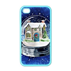 Winter Snow Ball Snow Cold Fun Apple iPhone 4 Case (Color)