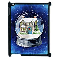 Winter Snow Ball Snow Cold Fun Apple Ipad 2 Case (black)