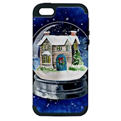 Winter Snow Ball Snow Cold Fun Apple Iphone 5 Hardshell Case (pc+silicone)