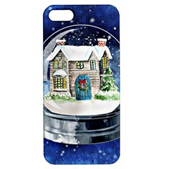 Winter Snow Ball Snow Cold Fun Apple Iphone 5 Hardshell Case With Stand