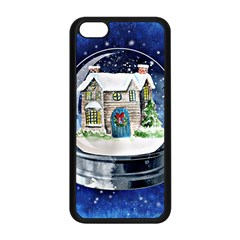 Winter Snow Ball Snow Cold Fun Apple Iphone 5c Seamless Case (black)