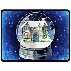 Winter Snow Ball Snow Cold Fun Double Sided Fleece Blanket (large)