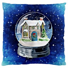 Winter Snow Ball Snow Cold Fun Standard Flano Cushion Case (one Side)