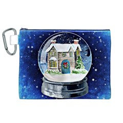 Winter Snow Ball Snow Cold Fun Canvas Cosmetic Bag (xl)
