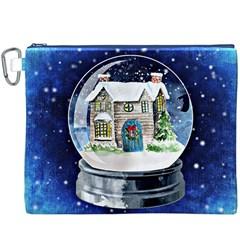 Winter Snow Ball Snow Cold Fun Canvas Cosmetic Bag (XXXL)