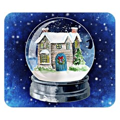 Winter Snow Ball Snow Cold Fun Double Sided Flano Blanket (Small)