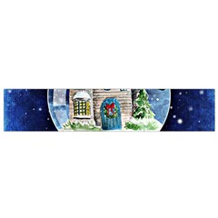 Winter Snow Ball Snow Cold Fun Flano Scarf (Small)