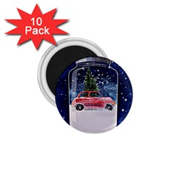 Winter Snow Ball Snow Cold Fun 1.75  Magnets (10 pack)