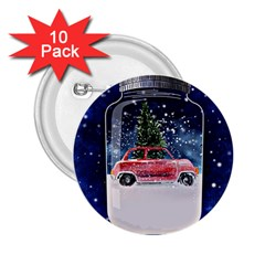 Winter Snow Ball Snow Cold Fun 2 25  Buttons (10 Pack)
