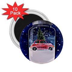 Winter Snow Ball Snow Cold Fun 2.25  Magnets (10 pack)