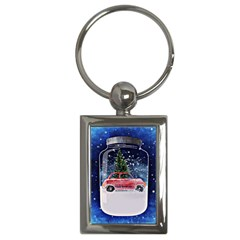 Winter Snow Ball Snow Cold Fun Key Chains (rectangle)