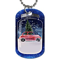Winter Snow Ball Snow Cold Fun Dog Tag (two Sides)