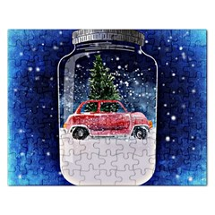 Winter Snow Ball Snow Cold Fun Rectangular Jigsaw Puzzl