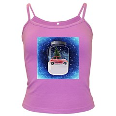 Winter Snow Ball Snow Cold Fun Dark Spaghetti Tank