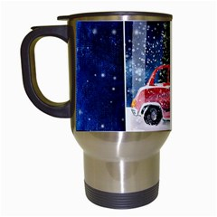 Winter Snow Ball Snow Cold Fun Travel Mugs (White)