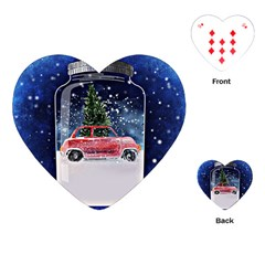 Winter Snow Ball Snow Cold Fun Playing Cards (Heart)