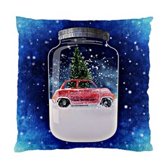 Winter Snow Ball Snow Cold Fun Standard Cushion Case (Two Sides)