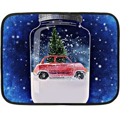 Winter Snow Ball Snow Cold Fun Double Sided Fleece Blanket (mini)
