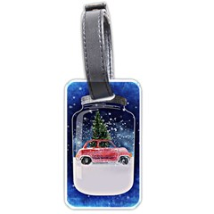 Winter Snow Ball Snow Cold Fun Luggage Tags (one Side)