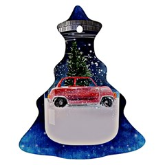 Winter Snow Ball Snow Cold Fun Christmas Tree Ornament (Two Sides)