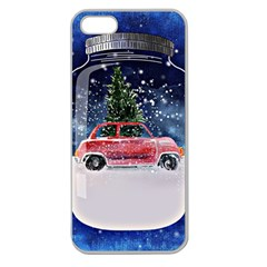 Winter Snow Ball Snow Cold Fun Apple Seamless iPhone 5 Case (Clear)
