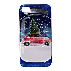 Winter Snow Ball Snow Cold Fun Apple Iphone 4/4s Hardshell Case With Stand