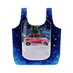 Winter Snow Ball Snow Cold Fun Full Print Recycle Bags (M)