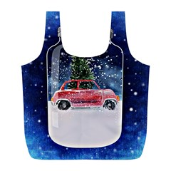 Winter Snow Ball Snow Cold Fun Full Print Recycle Bags (l)