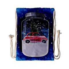 Winter Snow Ball Snow Cold Fun Drawstring Bag (Small)