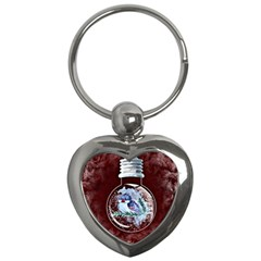 Winter Snow Ball Snow Cold Fun Key Chains (Heart)