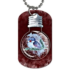 Winter Snow Ball Snow Cold Fun Dog Tag (One Side)