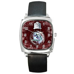 Winter Snow Ball Snow Cold Fun Square Metal Watch