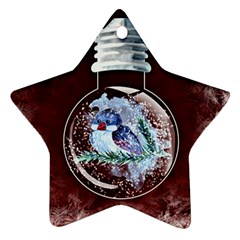 Winter Snow Ball Snow Cold Fun Star Ornament (Two Sides)