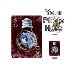 Winter Snow Ball Snow Cold Fun Playing Cards 54 (Mini)
