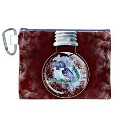 Winter Snow Ball Snow Cold Fun Canvas Cosmetic Bag (XL)