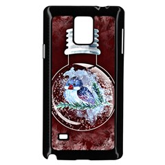 Winter Snow Ball Snow Cold Fun Samsung Galaxy Note 4 Case (black)