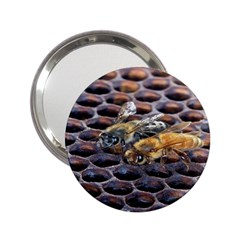 Worker Bees On Honeycomb 2.25  Handbag Mirrors
