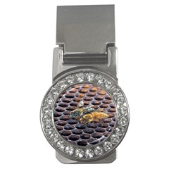 Worker Bees On Honeycomb Money Clips (cz)