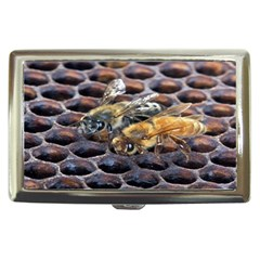 Worker Bees On Honeycomb Cigarette Money Cases