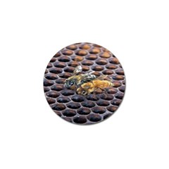 Worker Bees On Honeycomb Golf Ball Marker (10 pack)