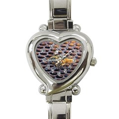 Worker Bees On Honeycomb Heart Italian Charm Watch