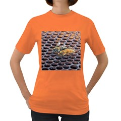 Worker Bees On Honeycomb Women s Dark T Shirt